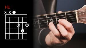accordo di re maggiore posizione chitarra