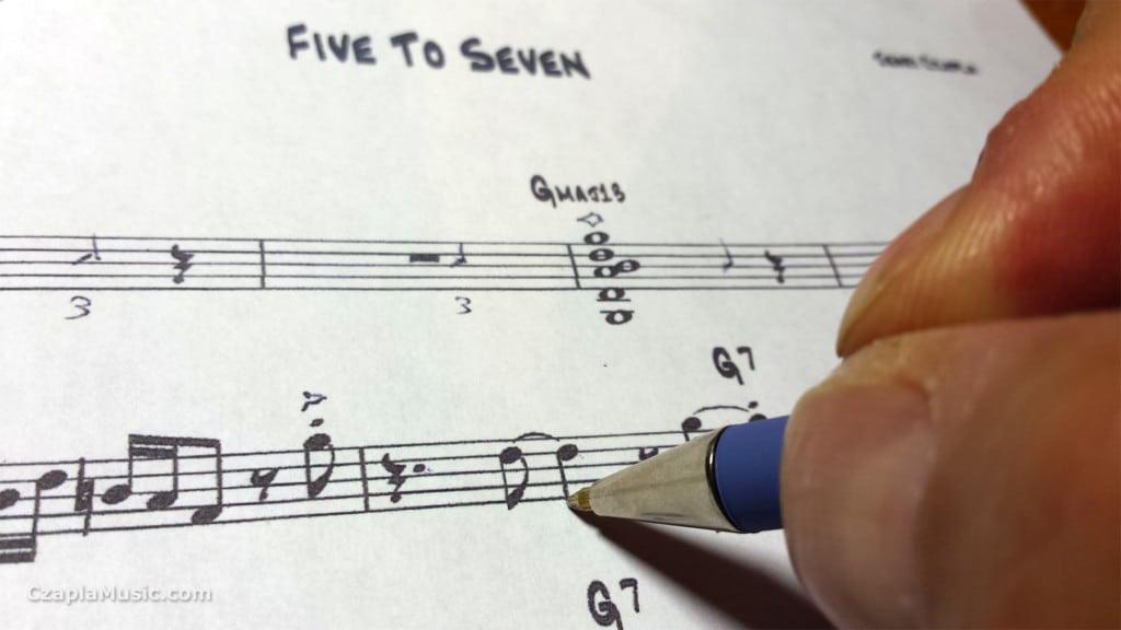 come scrivere le note musicali