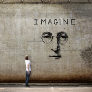 imagine john lennon base per studio