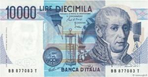 banconota da 10000 lire