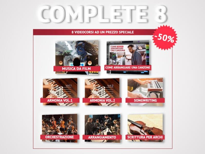 complete 8 corso di musica da film film scoring armonia arrangiamento orchestrazione scrittura per archi songwriting